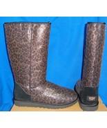 UGG Australia Classic Black Tall Glitter Leopard Boots Size US 9 EU 40 NIB - $129.57