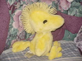 "12"" Peanuts Chirping Woodstock Plush Toy Wings & Mouth Moves Worlds of Wonder  - $56.09"