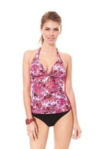 Profile Gottex Forget Me Not Halter Swimsuit Tankini Top & Bottom 2 pc S... - $39.59