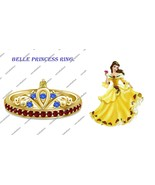 Multi-Color Round CZ 925 Sterling Silver Disney Belle Princess Kids Girl... - £55.00 GBP