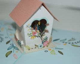 Lovepop LP2028 Birdhouse Pop Up Card  White Envelope Cellophane Wrapped image 4