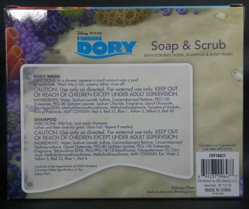 Finding dory bubbly berry scented soap & scrub shampoo and body wash set