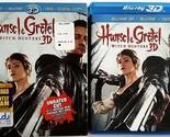 HANSEL & GRETEL: WITCH HUNTERS BLU RAY 3D/2D + DVD 3 DISC SET & SLIPCOVER SLEEVE