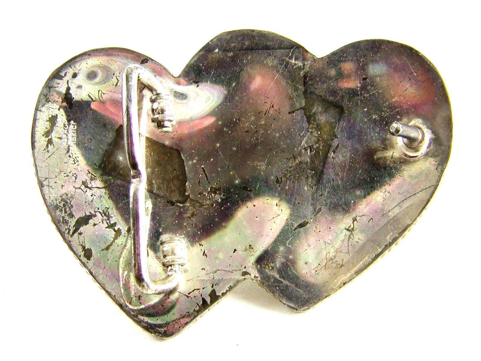Ladies Silver Strike Entwined Hearts Western Belt Buckle 11142013
