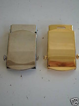 Usn Us Navy All Ranks All Rates Gold And Silver Belt Buckles Set Of 2 Pieces - $18.80