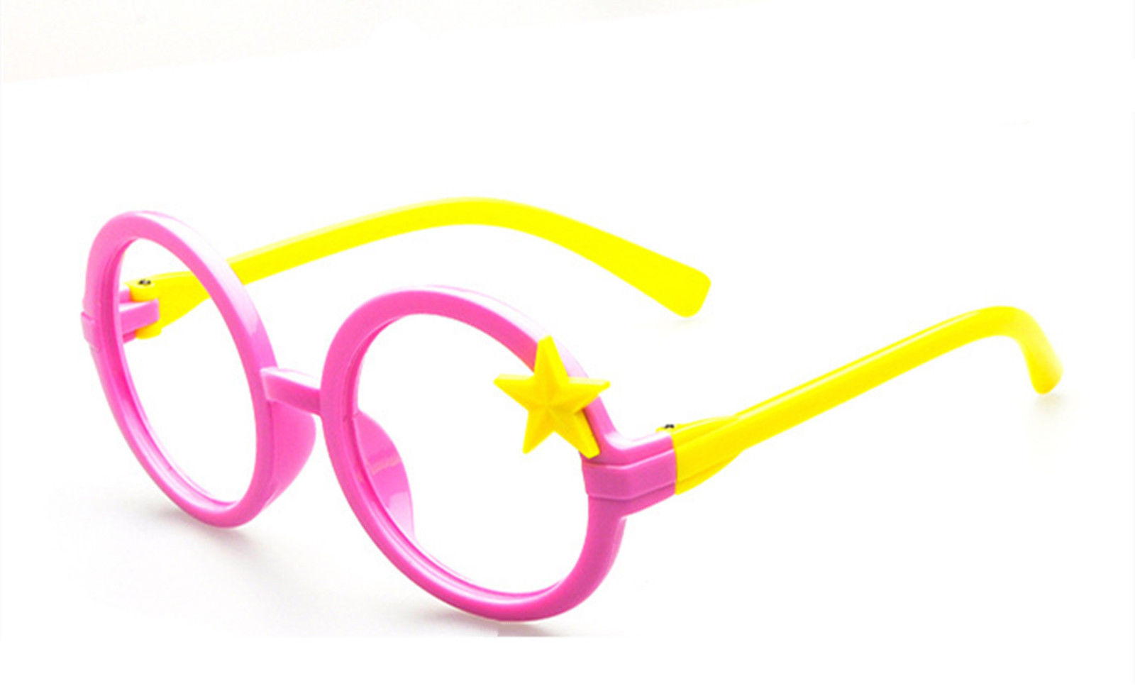 Nerd Classic Retro Round Wizard Style Glass Frame Fun Stars Eyewear for Kids image 6