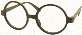 Vintage Retro Geek Nerd Style Round Shape Glass Frame NO LENS Costume Cosplay image 2