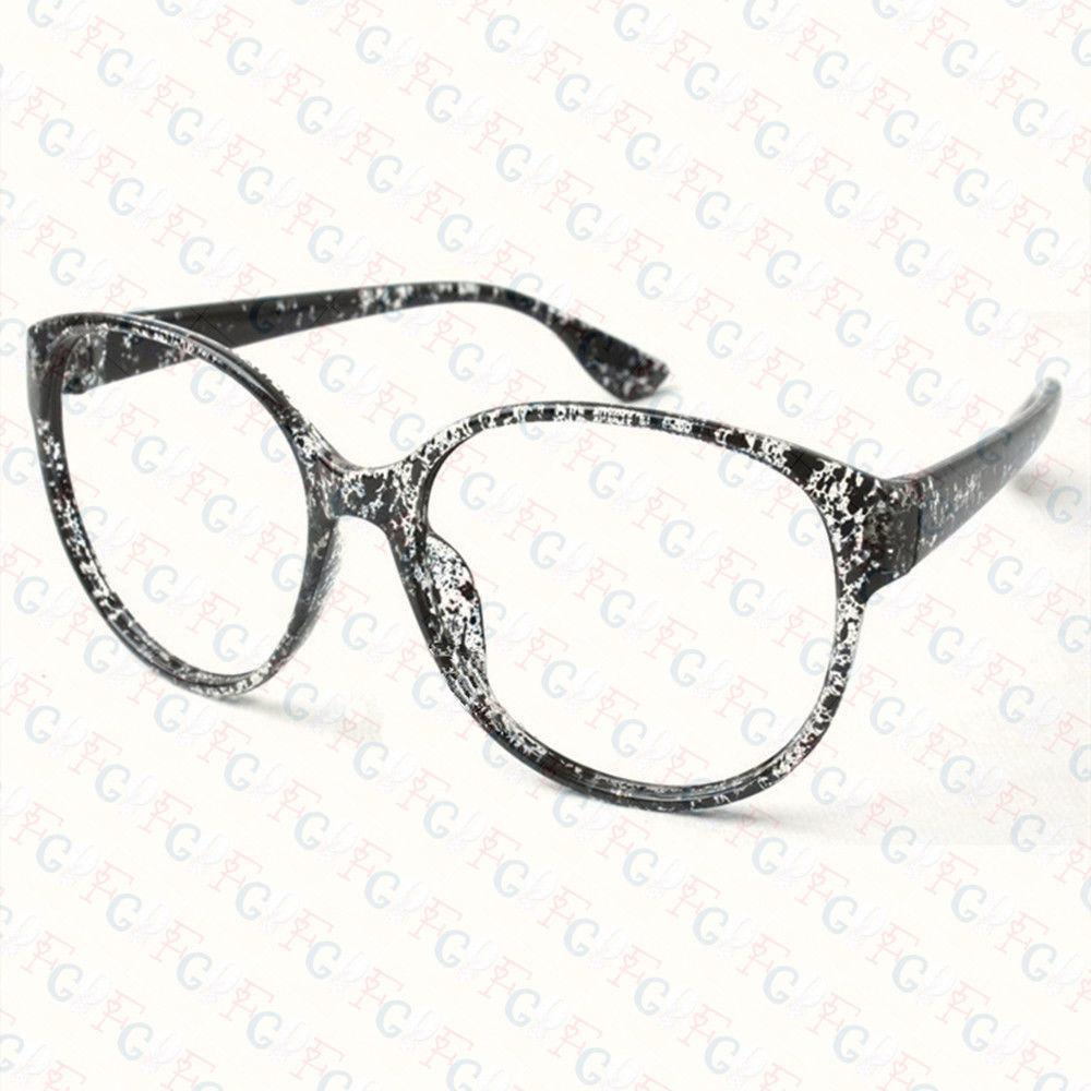 New Large Size Vintage Retro Nerd Oval Round Glass Frame Eyewear NO LENS Costume image 4