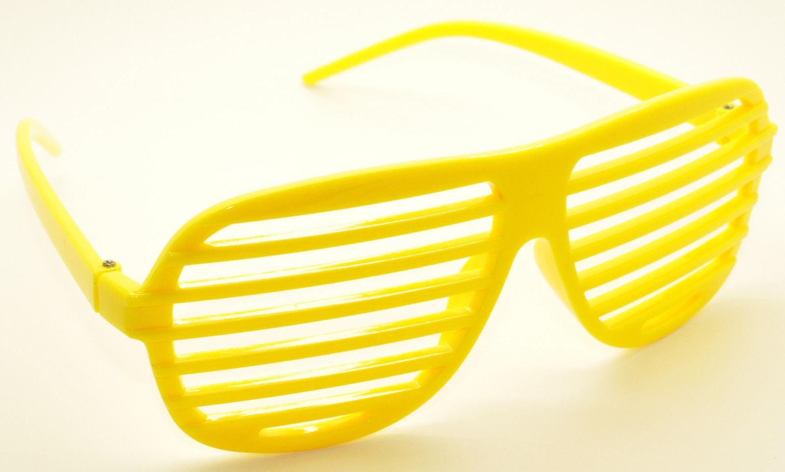 8PC Large Size Neon Party Rave EDM EDC Eyewear Shades Adult Glasses Frame Set2