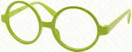 Vintage Retro Geek Nerd Style Round Shape Glass Frame NO LENS Costume Cosplay image 5