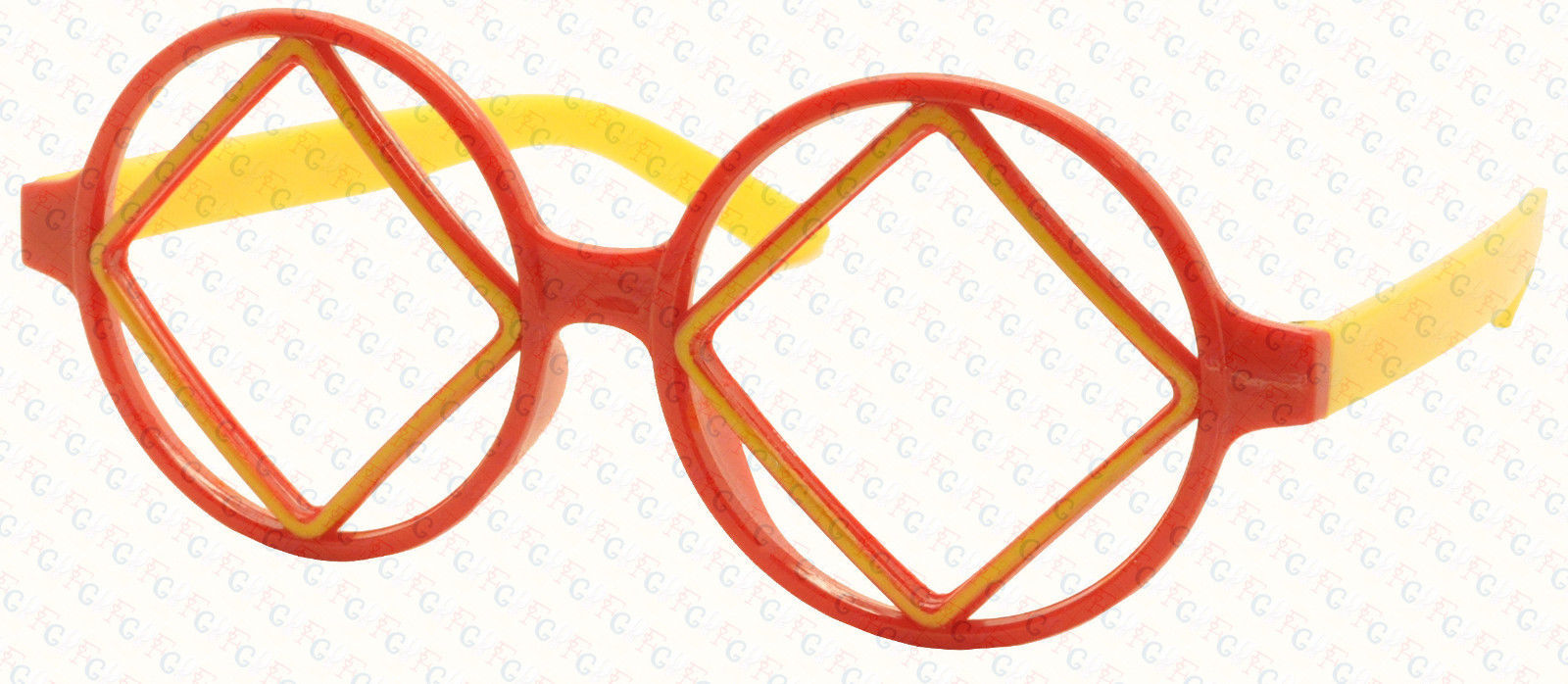 Cute Lovely Retro Classic Round Square Shape Cool Glass Frame Kids 3-12 NO LENS