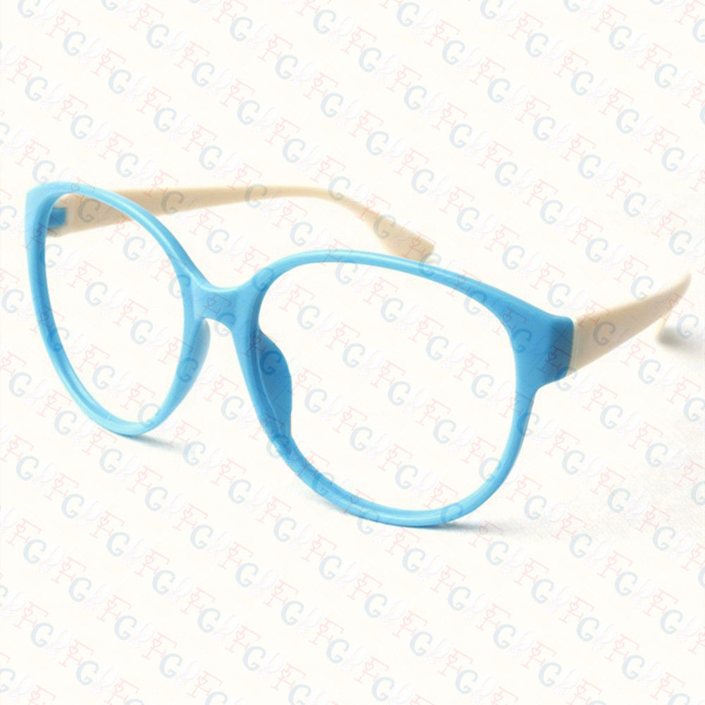 New Large Size Vintage Retro Nerd Oval Round Glass Frame Eyewear NO LENS Costume