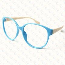 New Large Size Vintage Retro Nerd Oval Round Glass Frame Eyewear NO LENS Costume image 2