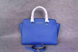 Michael Kors Women's Selma Large Top Zip Satchel Satchel Handbag Electri... - $230.00