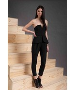 "CAMEO C/MEO JUMPSUIT ROMPER Black ""Run to Me"" Jumpsuit  Sz M - $93.25"