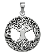 Silver Druid's Tree of Life Pendant for Strength - $34.95