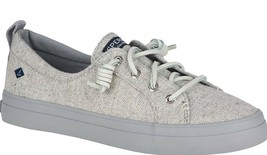 Sperry Top-Sider Women's Crest Vibe Tweed Light Gray Slip-On Sneaker Shoes NIB