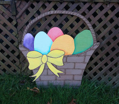 Beautiful Hand painted Easter Egg Basket Yard C... - $65.00