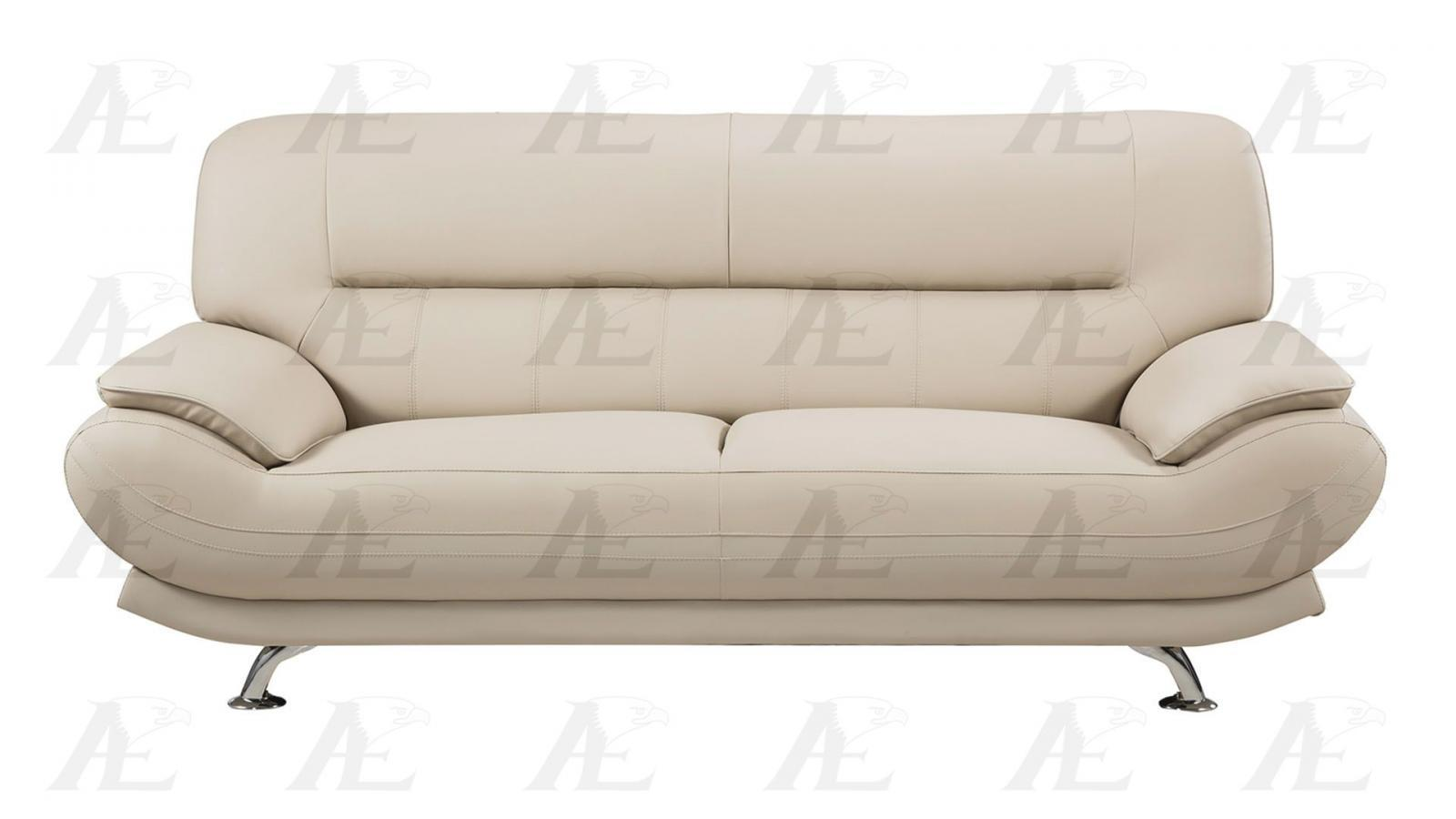 American Eagle Ae709 Cr Cream Sofa Loveseat And Chair Faux Leather Set 3pcs Sofas Loveseats