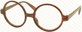 Vintage Retro Geek Nerd Style Round Shape Glass Frame NO LENS Costume Cosplay image 3