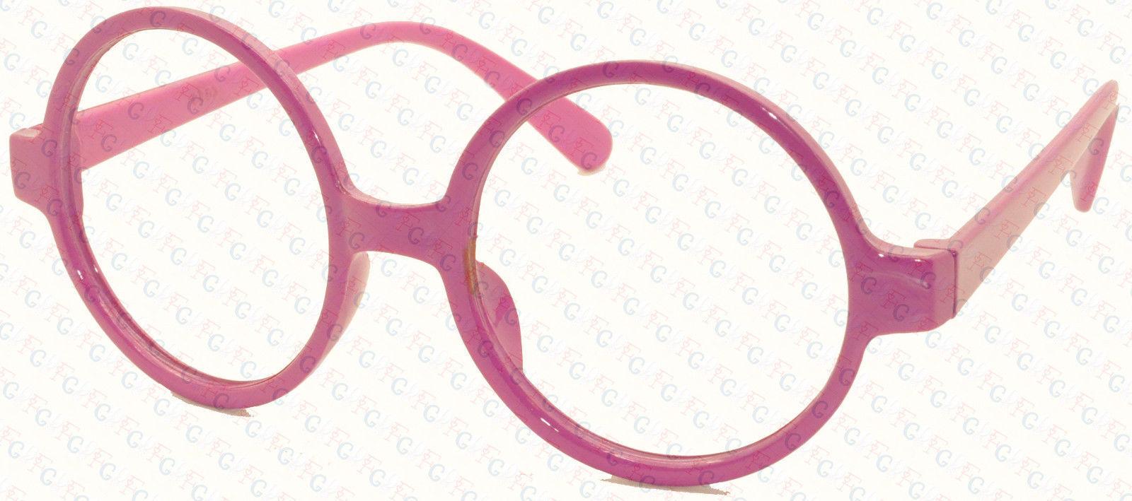 Vintage Retro Geek Nerd Style Round Shape Glass Frame NO LENS Costume Cosplay image 4