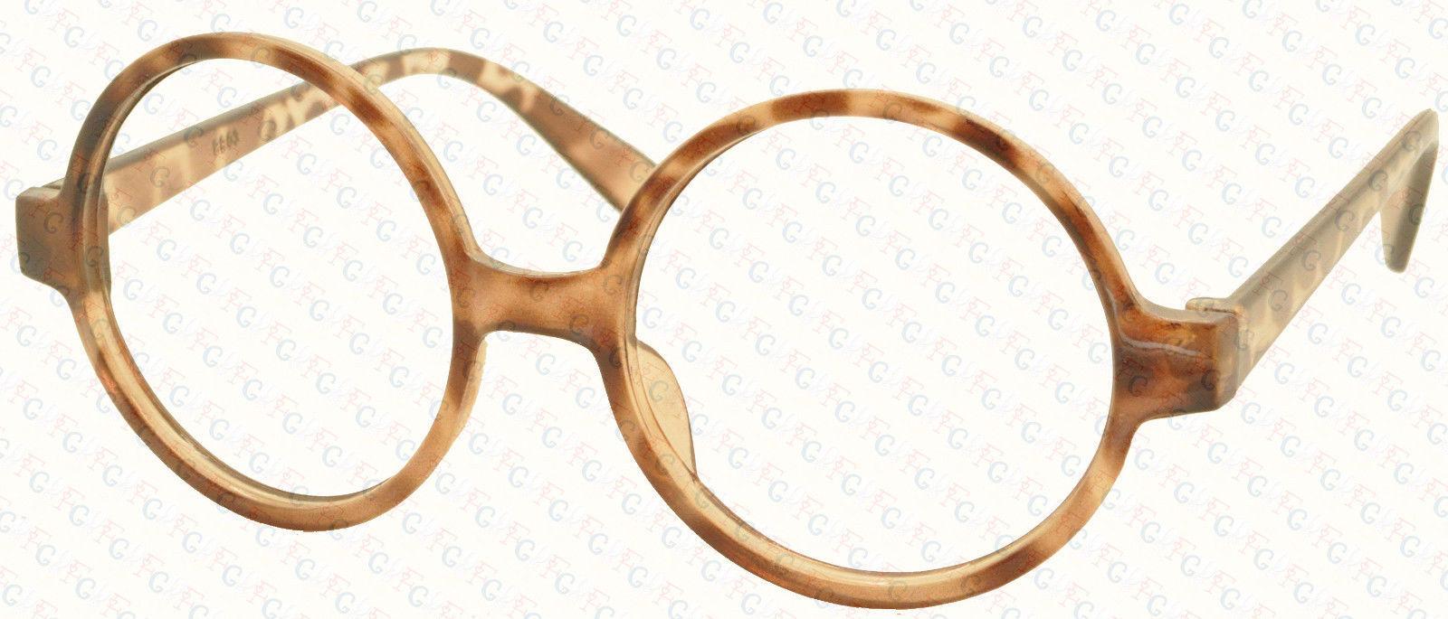 Vintage Retro Geek Nerd Style Round Shape Glass Frame NO LENS Costume Cosplay