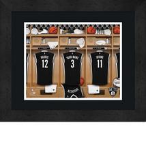 Personalized Brooklyn Nets 12 x 16 Locker Room Framed Print - $63.95