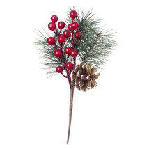 Christmas Floral Pinecone and Berry Pick - $9.20