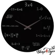 MATH EQUATION BOARD WALL CLOCK BLACK MODERN ROU... - $26.39