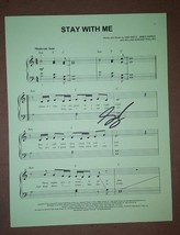 Sam Smith Hand Signed Sheet Music COA Stay With Me Autograph - $71.99