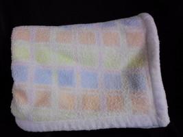 "Carter's Baby Blanket Pastel Plaid Check Squares Fleece 30"" x 39"" - $24.45"