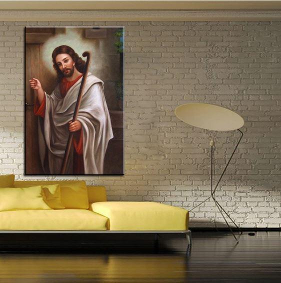 "Jesus Christ Print on Canvas religious Portrait art Wall decor 28x40"" - $29.64"