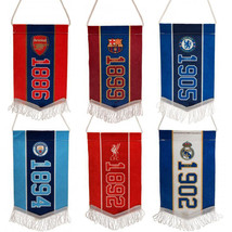 OFFICIAL FOOTBALL SOCCER CLUB MINI PENNANT HANGING CAR ROOM ACCESSORY LI... - $8.24