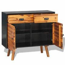 vidaXL Solid Acacia Wood 2 Door 2 Drawer Sideboard Side Cabinet Storage Chest image 4