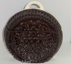Oreo Cookie Jar Shaped Cookies Snack Treat Great Gift Brown White Vintage - $99.95