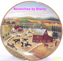 Country Journeys Collector Plate American Folk Art Collection Cows Barn Pasture - $16.95