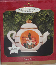 Hallmark Ornament Teapot Party Magic Light 1997 Christmas Holiday - $29.95