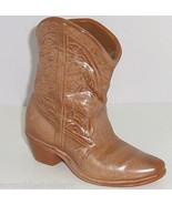 "Frankoma Cowboy Boot 7""  Planter Wall Pocket Brown Gold Vintage 133 USA ... - $49.95"