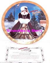 Barbie Happy Holidays Collector Plate Enesco 1996 Retired Vintage  - $16.97