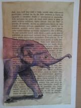 Little pink elephant - ORIGINAL watercolor pain... - $19.90