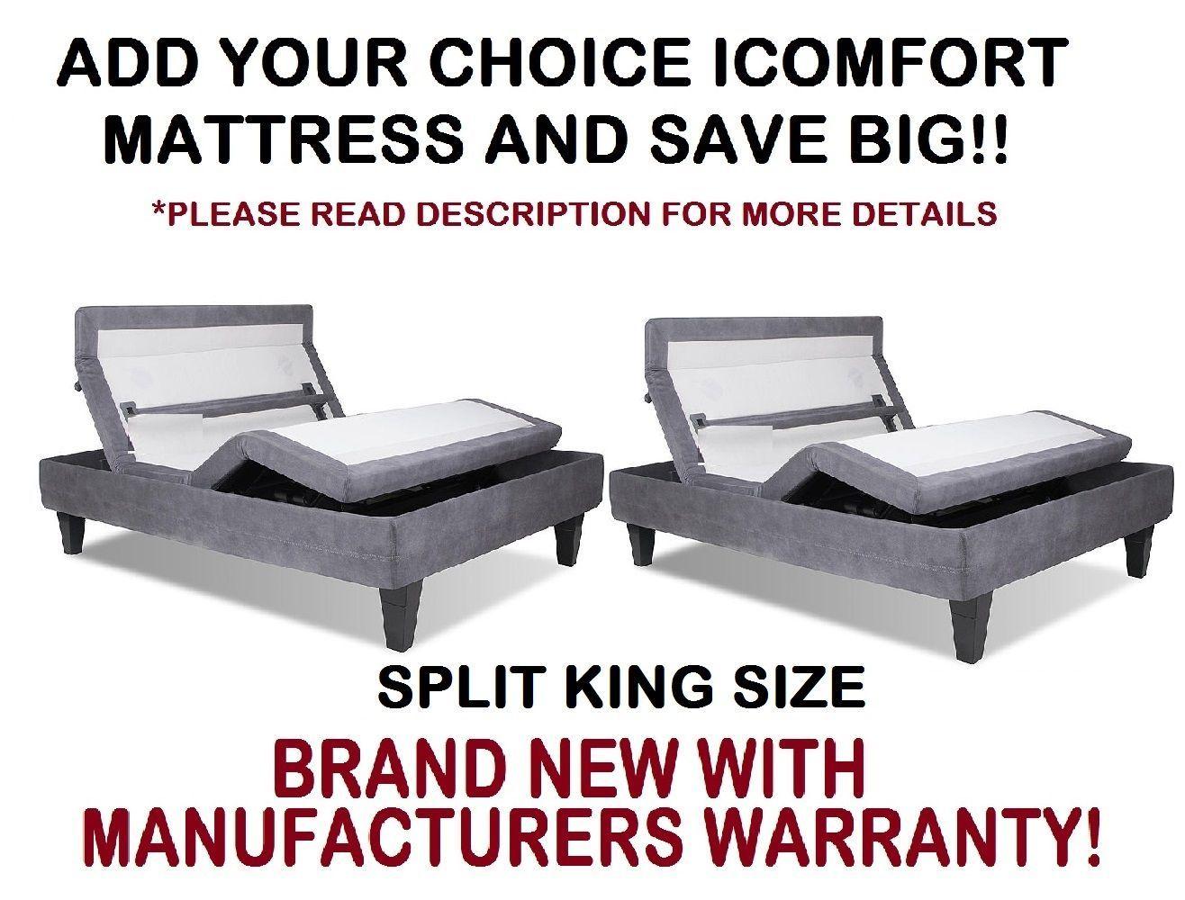 Serta Adjustable Bed Frame Parts : Serta icomfort split king size motion custom and