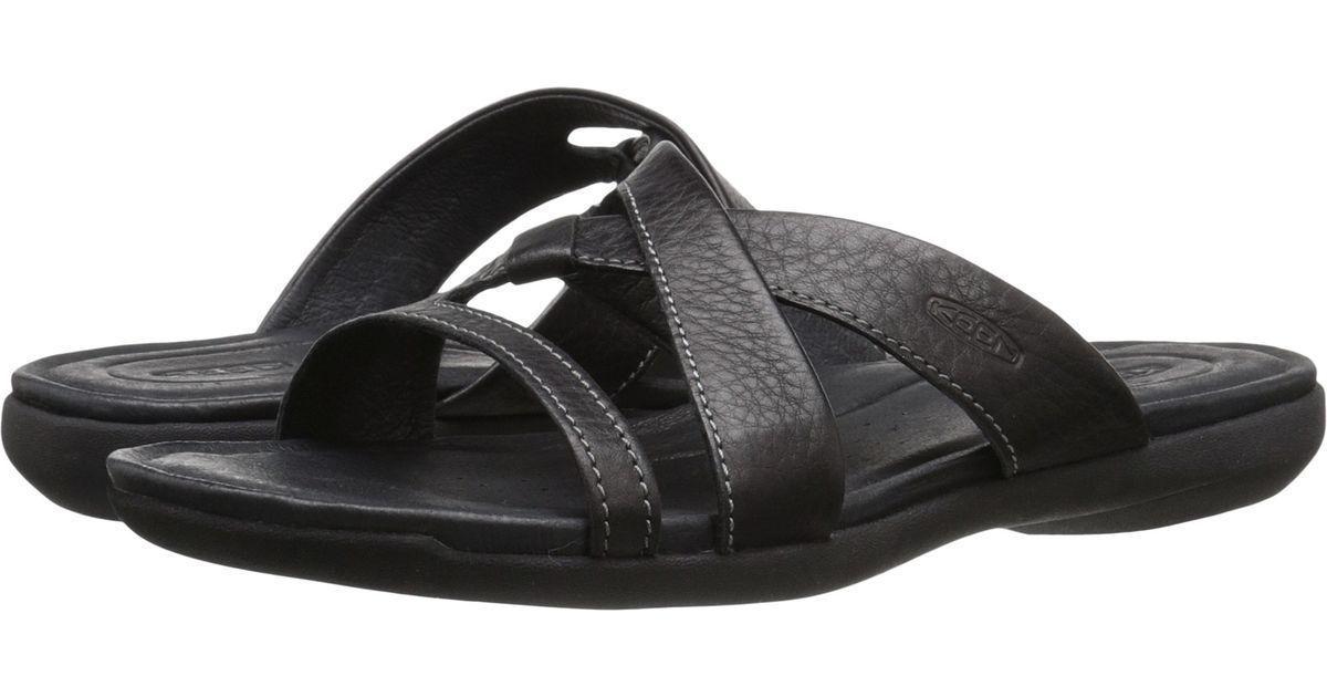 57. 57. Previous. Keen Womens Rose City Black Leather Slide Sandals ... d7d0bd7d00