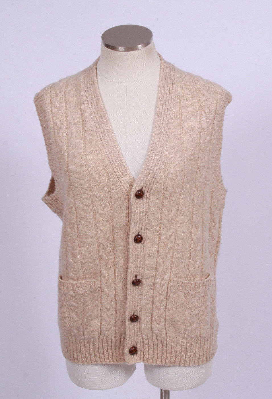 Vintage 90s Lord Jeff Beige Wool Cable Knit And Similar Items