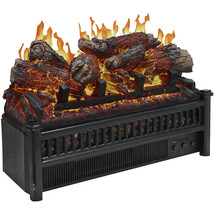 Comfort Glow Electric Log Set with Heater Flame Projection Remote Contro... - $188.99