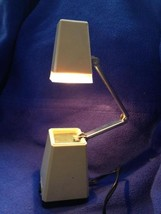 Vintage Pyramid Folding Desk Lamp Mid Century Modern Hong Kong High Intensity