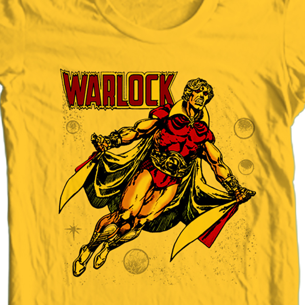 Adam warlock marvel gold t shirt