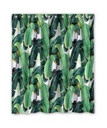 Banana Leaf Pattern #01 Shower Curtain Waterproof Made From Polyester - $34.73+