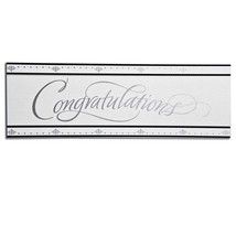 Stafford Silver Congratulations Giant Party Banner 20 X 60 Inches  - $8.50