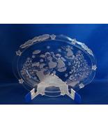Mikasa Holiday Lights Angels Christmas Tree Oval Glass Sweet Dish/Servin... - $5.90
