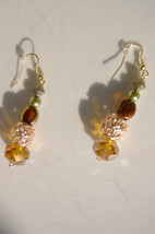Women's Duster Earrings Womens Amber, Rose Gold... - $25.00